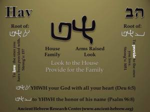 Hebrew provide for the family
