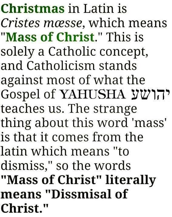 Christmas dismiss Christ